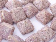 PYR-02010/15496 Chalk Rose Gold Lumi Pyramid Bead Studs - 20 x