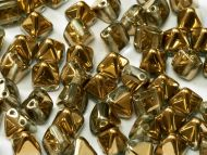 PYR6-00030/26441 Crystal Amber (Gold) Pyramid Bead Studs 6x6 mm - 50 x