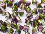 PYR6-00030/95000 Magic Orchid Iris Pyramid Bead Studs 6x6 mm - 50 x