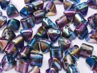 PYR6-00030/95100 Magic Blueberry Pyramid Bead Studs 6x6 mm - 50 x