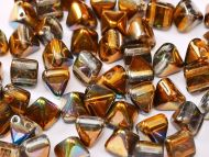 PYR6-00030/95300 Magic Copper Topaz Pyramid Bead Studs 6x6 mm - 50 x