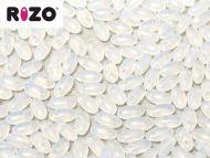 R-01000 White Opal Rizo Beads * BUY 1 - GET 1 FREE *