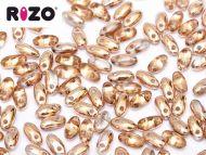 R-00030/27101 Crystal Capri Gold Rizo Beads * BUY 1 - GET 1 FREE *