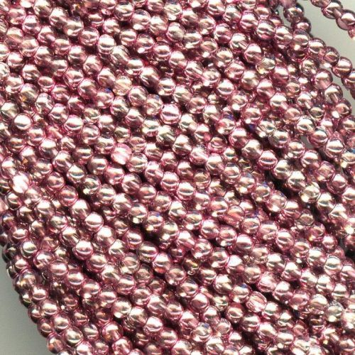 RB3-00030/45221 Crystal Metallic Rosaline Round Beads 3 mm - 150 x