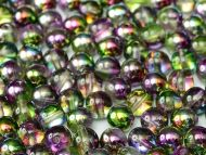 RB6-00030/95000 Magic Orchid Iris Round Beads 6 mm - 50 x