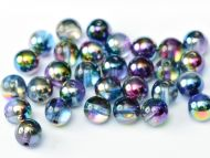 RB6-00030/95100 Magic Blueberry Round Beads 6 mm - 50 x