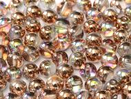 RB4-00030/98533 Crystal Rainbow Copper Round Beads 4 mm - 100 x