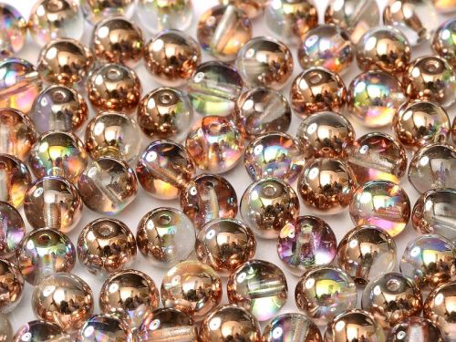 RB3-00030/98533 Crystal Rainbow Copper Round Beads 3 mm - 150 x