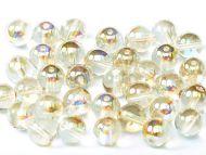 RB4-00030/98534 Crystal Rainbow Lemon Round Beads 4 mm