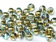 RB3-00030/98536 Crystal Rainbow Gold Round Beads 3 mm - 150 x