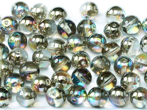 RB3-00030/98537 Crystal Rainbow Graphite Round Beads 3 mm - 150 x