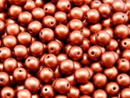 RB6-01750 Dark Copper Satin Round Beads 6 mm
