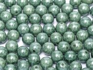 RB8-03000/14459 Chalk Teal Lumi Round Beads 8 mm - 25 x