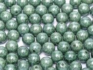 RB3-03000/14459 Chalk Teal Lumi Round Beads 3 mm - 100 x