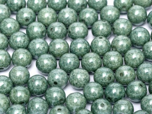 RB3-03000/14459 Chalk Teal Lumi Round Beads 3 mm - 100 x