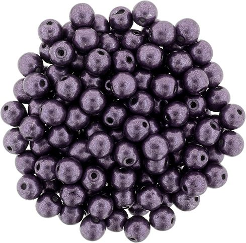 RB3-04B02 ColorTrends - Metallic Tawny Port Round Beads 3 mm - 100 x