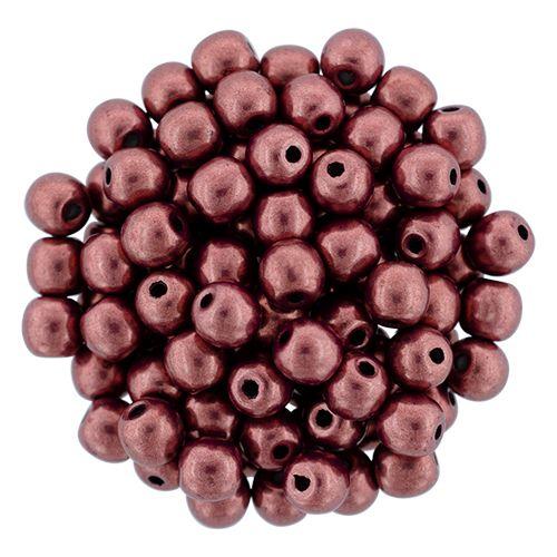 RB3-06B02 ColorTrends - Metallic Valiant Poppy Round Beads 3 mm - 100 x