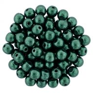 RB3-06B05 ColorTrends - Metallic Martini Olive Round Beads 3 mm - 100 x
