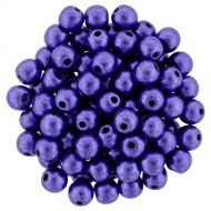 RB3-06B07 ColorTrends - Metallic Ultra Violet Round Beads 3 mm - 100 x