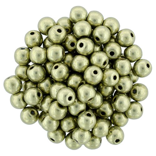 RB3-06B09 ColorTrends - Metallic Limelight Round Beads 3 mm - 100 x