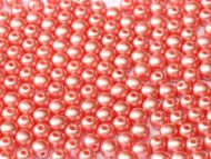 RB3-25007 Pastel Pearl Light Coral Round Beads 3 mm - 100 x