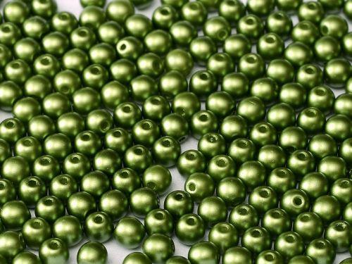 RB3-25034 Pastel Pearl Olivine Round Beads 3 mm - 100 x