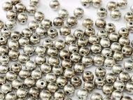 RB3-27500 Argentic Full Round Beads 3 mm - 100 x
