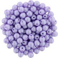 RB3-29308 Powdery - Pastel Purple Round Beads 3 mm - 100 x