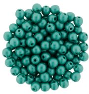 RB3-29341 Powdery - Teal Round Beads 3 mm - 100 x
