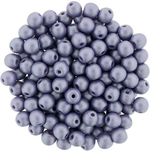 RB3-29365 Powdery - Lilac Round Beads 3 mm - 100 x