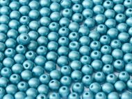 RB2-29436 Metallic Matt Blue Turquoise Round Beads 2 mm - 150 x
