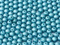 RB3-29436 Metallic Matt Blue Turquoise Round Beads 3 mm - 100 x