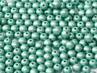 RB2-29455 Metallic Matt Green Turquoise Round Beads 2 mm - 150 x
