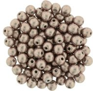 RB3-77057 ColorTrends - Metallic Pale Dogwood Round Beads 3 mm - 100 x