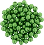 RB3-77059 ColorTrends - Metallic Kale Round Beads 3 mm - 100 x