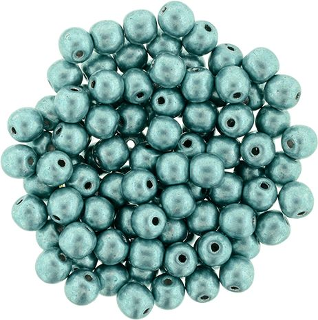 RB3-77060 ColorTrends - Metallic Island Paradise Round Beads 3 mm - 100 x