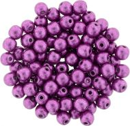 RB3-77062 ColorTrends - Metallic Pink Yarrow Round Beads 3 mm - 100 x