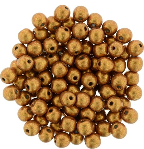 RB3-77063 ColorTrends - Metallic Flame Round Beads 3 mm - 100 x