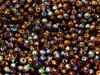 RB3-98556 Glittery Bronze Round Beads 3 mm - 100 x