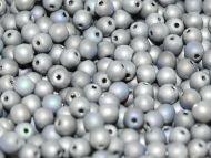 RB3-98853 Glittery Silver Matt Round Beads 3 mm - 100 x