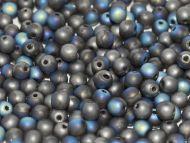 RB3-98855 Glittery Graphite Matt Round Beads 3 mm - 100 x