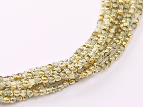 RB2-00030/26441 Crystal Amber (Gold) Round Beads 2 mm