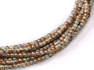 RB2-00030/98533 Crystal Rainbow Copper Round Beads 2 mm - 150 x