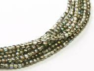 RB2-00030/98537 Crystal Rainbow Graphite Round Beads 2 mm