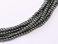 RB2-23980/14400 Hematite Round Beads 2 mm