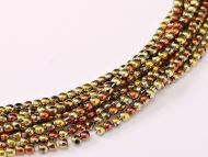 RB2-98542 California Gold Rush Round Beads 2 mm