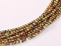 RB2-98542 California Gold Rush Round Beads 2 mm - 600 x * BUY 1 - GET 1 FREE *