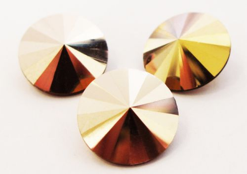 R12 Capri Gold Rivoli 12 mm Preciosa * BUY 1 - GET 1 FREE *