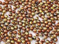 RB3-98542 California Gold Rush Round Beads 3 mm