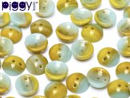 P-S0860 Opaque Caramel/Turquoise Piggy Beads ~ 50 x * BUY 1 - GET 1 FREE *